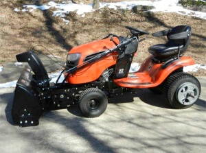 Craftsman 42in Snow Blower on Ariens A22A46 Tractor