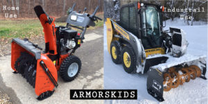 home and industrial snowblower skids