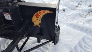 Meteor snowblower attachment